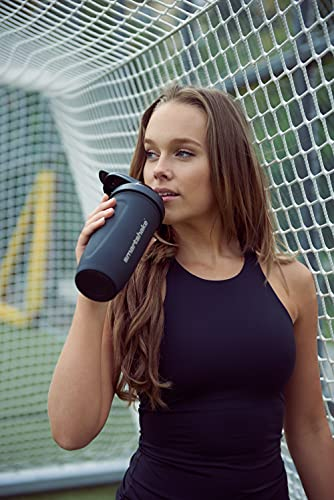 Smartshake Metal Protein Shaker Bottle – Reforce Stainless Steel Cup 900ml Protein Shake Bottles Smart Mixer Shaker Cups for Protein Shakes, Black