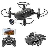 PROACC Mini Drone Pieghevole con Telecamera, WiFi Telecomando Quadricottero FPV a 2,4 GHz con Fotocamera HD1080P per...