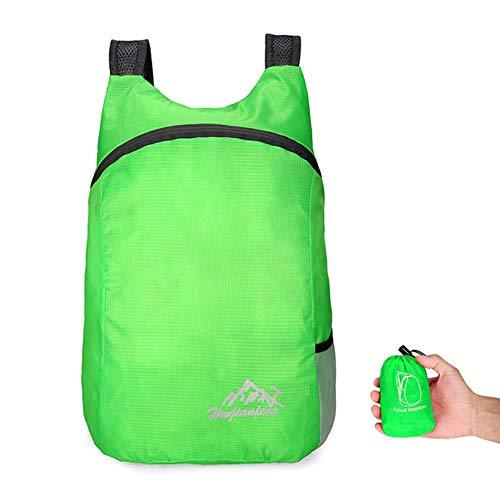 Lichtgewicht opvouwbare rugzak 20L opvouwbaar Ultralight Outdoor opvouwbare handige Travel Daypack tas Nano Daypack voor mannen vrouwen, groene kleur