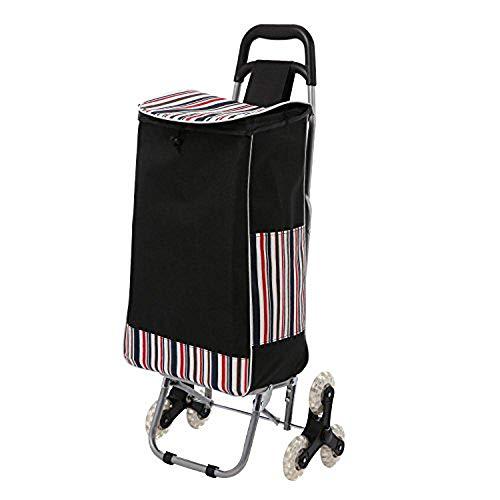 Dinger Einkaufstrolley,Klappbarer Einkaufswagen mit 3 Räder,Trolly Einkaufswagen Klappbar Wasserdichter,Kaufwagen mit große Kapazität,30kg