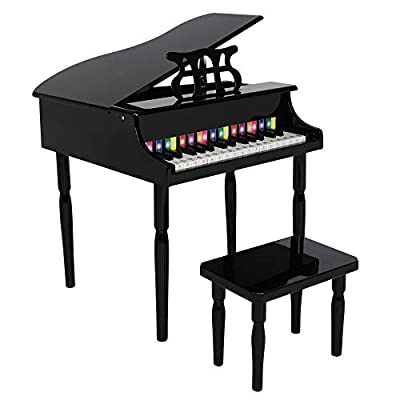 Wooden Toys: 30-Key Children's Wooden Piano...