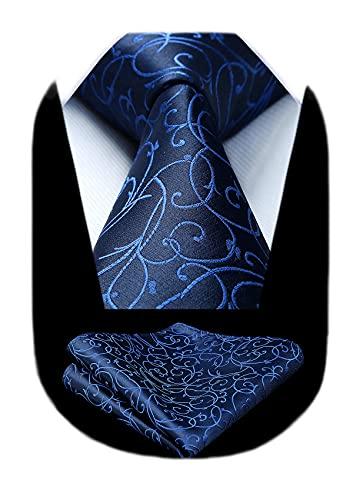 ビジネス紺 ネクタイ セット メンズ ペイズリー柄 結婚式 ネクタイ チーフ おしゃれ 礼服用 入学式 卒業式 ...