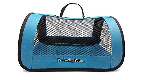 Perfect Petzzz Sturdy Blue Nylon and Mesh Zippered Tote For Carrying Your Plush Toy Pet