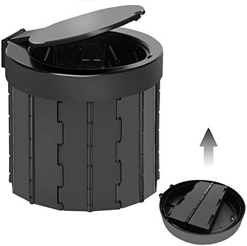 TRIPTIPS Portable Folding Toilet Travel Toilet Camping Toilet Porta Potty Car Toilet Bucket product image