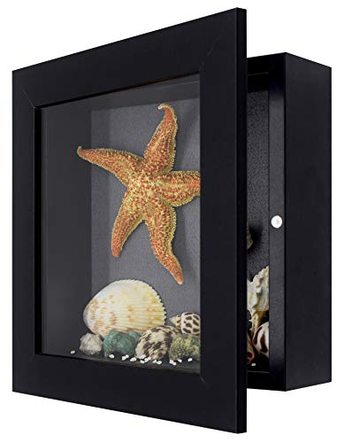 Golden State Art, Shadow Box Frame Display Case, 2-inch Depth, Great for Collages, Collections,...