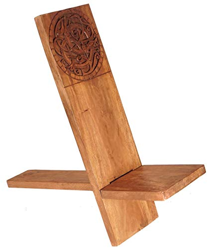 Windalf Wikinger-Stuhl THRON h: 90 cm Wikinger Knoten Handarbeit aus Holz