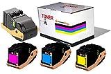 CVT - Pack 4 Toner Compatibles Phaser 7100 7100N 7100DN 7100DNM 7100NM - Negro/Cian/Magenta/Amarillo