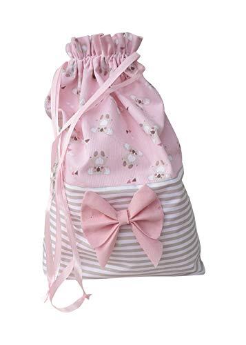 Bolsa para primer cambio de nacimiento, porta canastilla de bebé, 44 x 35 cm (bolsa rosa)
