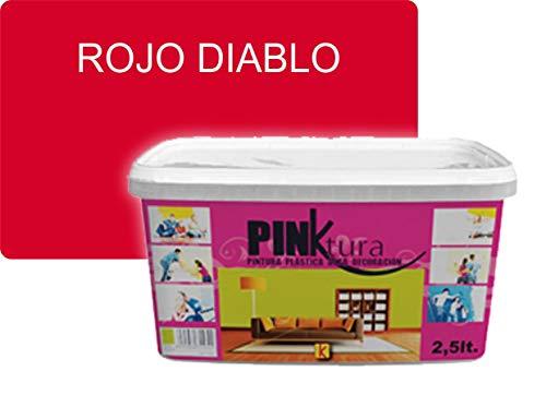 Pintura plástica Alta Decoración PINKTURA 2,5 litros (Rojo Diablo)