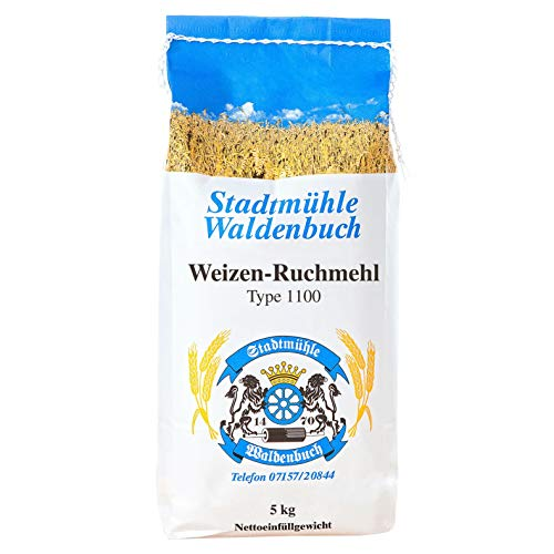 Stadtmühle Waldenbuch Weizen - Ruchmehl Type 1100, 5 kg