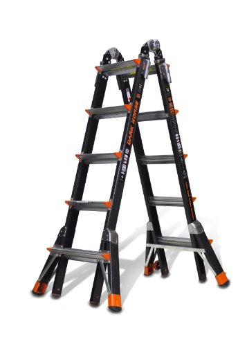 Little Giant Ladder Systems 15145-001 300-Pound Duty Rating Fiberglass Multi-Use Ladder