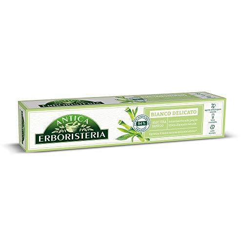Antica Erboristeria, Dentifricio Bianco Delicato, con Ingredienti di Origine Naturale, con Aloe Vera e Bamboo, 75 ml