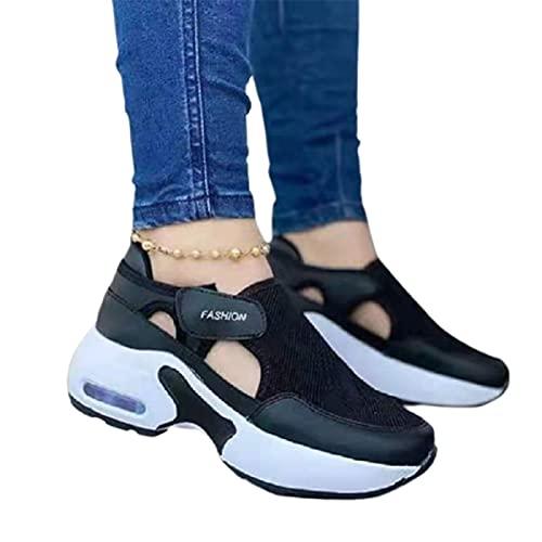 Aprimay Zapatillas de deporte ortopédicas con suela acolchada de aire para parejas, zapatos para caminar, casual para mujer, zapatos de correr, antideslizantes, zapatillas de deporte de moda