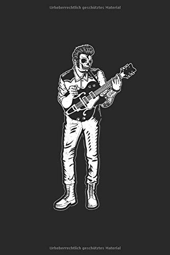 Zombie Gitarrist | Notizheft/Schreibheft: Gitarren Notizbuch Mit 120 Linierten Seiten (Linien) Inkl. Seitenangabe. Als Geschenk Eine Tolle Idee Für Gitarristen, Musiker Oder Band Mitglieder