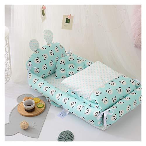 CAPCRD Neugeborene Schwellennest Bett Liege Bassinet Tragbare Krippe Babybett mit Decke Quilt 0-12 Monat (Farbe : Blue with Quilt)