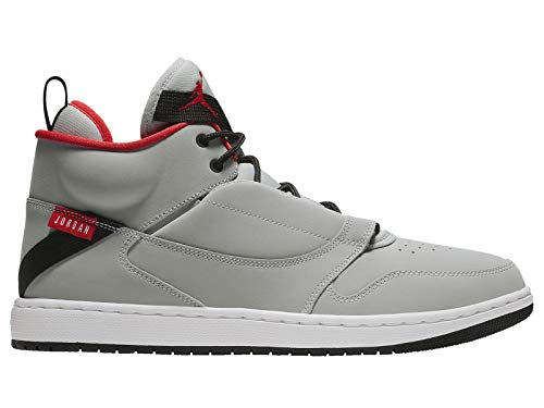 Nike Jordan Fadeaway Retro Basketball Shoe, Wolf Grey/White-University Red (10.5)