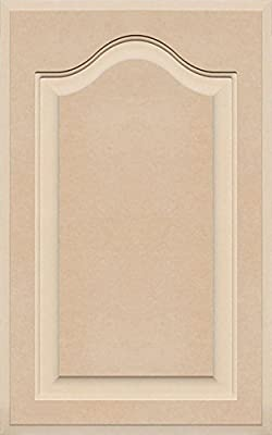 Unfinished Arch Top Cabinet Door in MDF by Kendor, 24 High x 15 Wide