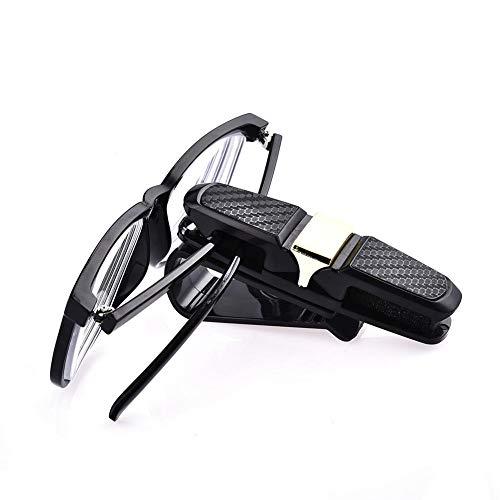 HUVE Confezione da 2 Supporti per Occhiali da Sole per Aletta Parasole Auto, Clip per Occhiali da Sole, Biglietti e Biglietti da Visiera. Dorato
