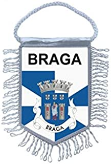 Akachafactory Fanion Mini Drapeau Pays Voiture Souvenir Blason Portugal Lisboa lisbonne