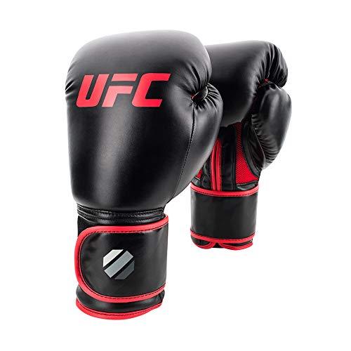 UFC Guantes de Boxeo Unisex Estilo Muay Thai, Color Negro, 14 onzas