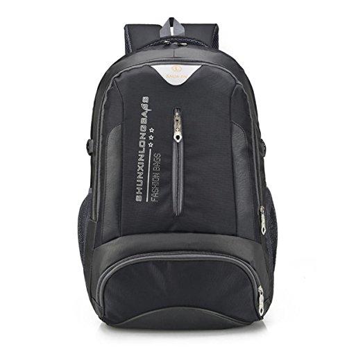 Voyage léger sac à dos multifonction grande capacité loisir Oxford sac à dos escalade randonnée équitation Pack étudiants d'affaires sac à bandoulière 4 couleurs-x L35 x T18 cm , black