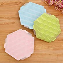 Creative 3D Square Ice Mold 7 Grids PP Plastic Ice Cube Tray with Lid DIY Ice Cream Maker Mould for Home Bar