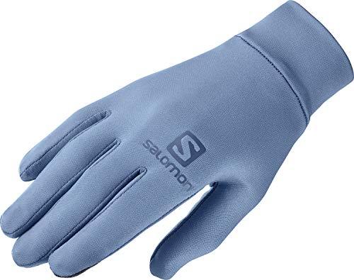 Salomon Guantes de trail running/senderismo, Unisex, AGILE WARM GLOVE U, Azul (Copen Blue), Talla M, LC1410500