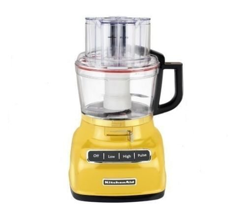 KitchenAid RKFP0930MY 9-Cup Food Processor with Exact Slice System (Renewed) Majestic Yellow