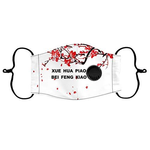 SHUANGA Face Cover Multifunktionstuch Motorrad Winddicht Atmungsaktiv Mundschutz Halstuch Schön Atmungsaktiv Sommerschal Augenschutz mit 2 austauschbaren Filter