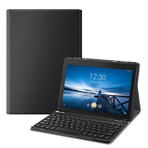 FINTIE Keyboard Case for Lenovo Tab E10 - Slim Lightweight Stand Cover with Magnetically Detachable Wireless Bluetooth Keyboard for Lenovo Tab E10 10.1' Tablet 2018 Release, Black