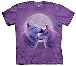 Wolf Kids Shirt Tie Dye Loving Wolves T-shirt Tee Youth (Small (6-8))