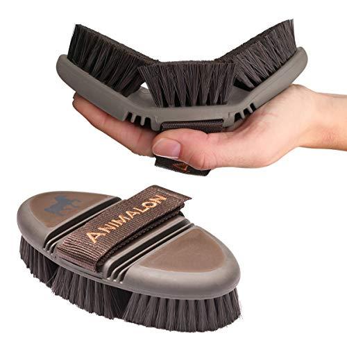 Animalon careflex Spazzola per criniera Flessibile & ergonomica, con chiusura in velcro, per qualsiasi borsa da equitazione