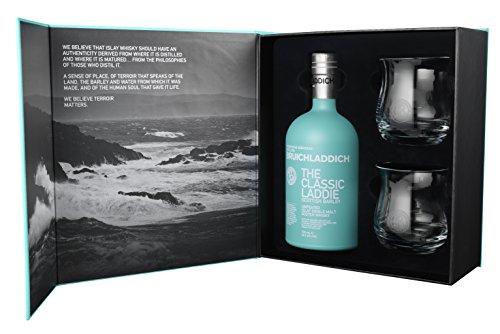 Bruichladdich Classic Laddie Scottish Barley Mit Exklusiver Geschenkpackung + 2 Tumbler Single Malt Whisky (1 X 0.7 L)