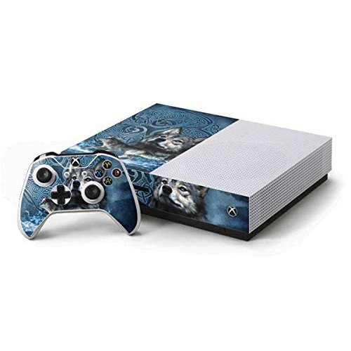 Skinit Decal Gaming Skin Compatible with Xbox One S Console and Controller Bundle - Officially Licensed Tate and Co. Celtic Wolf Design