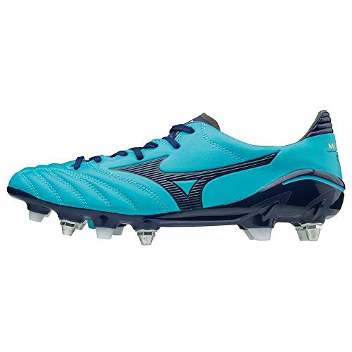 Mizuno Morelia Neo II Mix SG - Crampones de fútbol, color azul, Azul (azul), 45 EU
