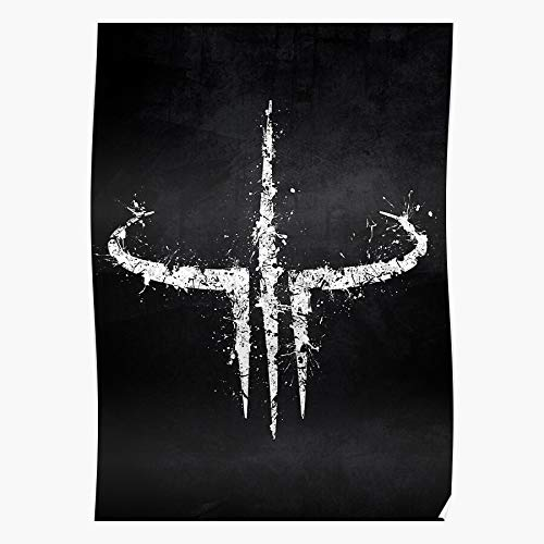 marbeian Splatter Logo 3 White Arena Quake Splat Black Das eindrucksvollste und stilvollste Poster für Innendekoration, das derzeit erhältlich ist