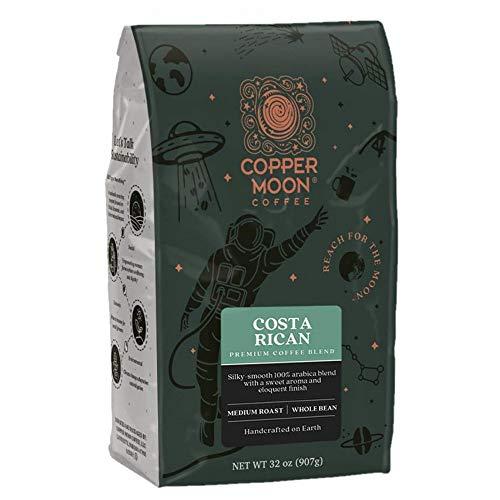 Copper Moon Costa Rican Blend, Medium Roast Coffee, Whole Bean, 2 lb