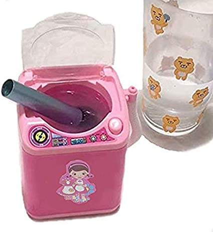 A Baby Home Miniature Laundry Playset Mini Pretend Play Toy for Kids Mommys Little Helper Pretend Play Mini Laundry Washing Machine with Real Light and Sound Washing Machine Toy for Children