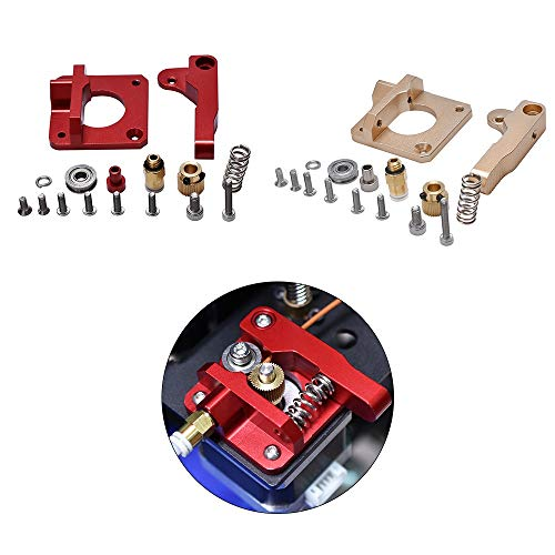 3D-Printeraccessoires 3D Printer Parts MK8 Extruder Upgrade Aluminium Block Bowden Extruder CR10 1.75mm gloeidraad extrusie for MK8 CR10 Ender-3 (Color : Free, Size : Red Right x1)