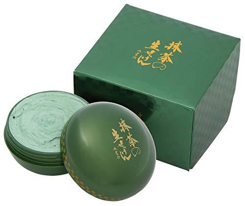 美香柑 抹茶の生せっけん ジャータイプ 120g (※泡立てネット・スパチュラ付き) 洗顔 グリーン