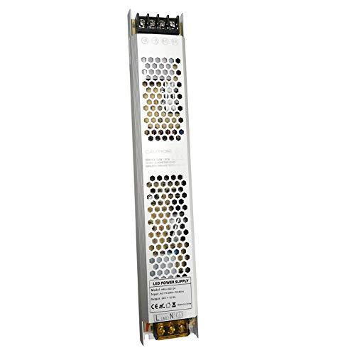 VARICART IP20 24V 12.5A 300W LED Treiber, Ultra Schmal Universal Reguliertes AC DC Schaltnetzteil, Konstanter Spannungswandler Adapter für CCTV Kamera Neonlampe G4 MR16 GU5.3 Glühbirne (1-er Packung)