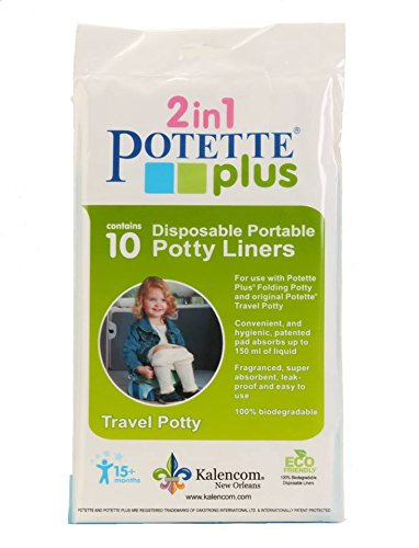 Kalencom Potette Plus On The Go Potty Liner Re-Fills 10-Pack