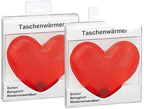 itsisa Taschenwärmer Herz, 2er Set - Wichtelgeschenk, Handwärmer, Taschenheizkissen