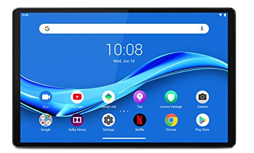 Lenovo M10 Plus Tablet (2nd Gen), Display 10.3  Full HD, Processore MediaTek Helio P22T, Storage 64 GB Espandibile fino a 256 GB, RAM 4 GB, WiFi+BT5.0, 2 Speaker, Android Pie, Iron Grey
