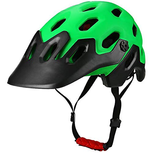 Casco Bicicleta Yuan Ou Casco Bicicleta Adulto Niño Integralmente Montaña MTB Road Bike Hombres Seguros Mujeres 25 Ventilaciones 56-62 cm Negro-Verde