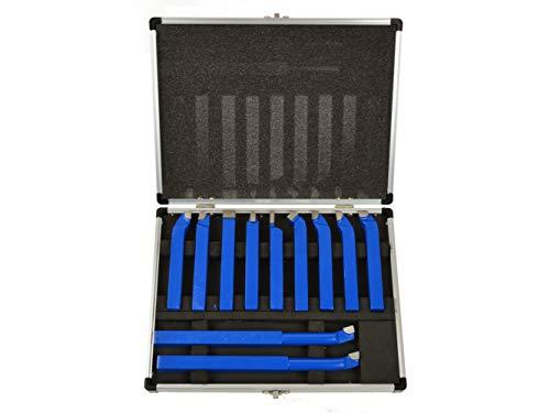 Drehbank Werkzeug Set - Drehmaschine Schneidwerkzeug mit Hartmetallspitze, Drehbank Meißel Kit - 11 Teilig - 12x12mm