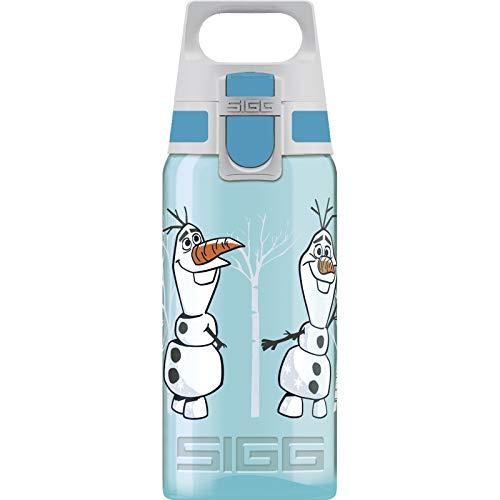 SIGG 8869,70 VIVA ONE Olaf II Kinder Trinkflasche (0.5 L), schadstofffreie Kinderflasche mit auslaufsicherem Deckel, einhändig bedienbare Wasserflasche, Türkis