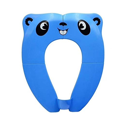 Portable Potty Seat with Splash Guard for Boys, Folding Travel Potty Seat for Toddler, Baby and Kids, Recyclable Non-Slip Silicone Pads Toilet Training Seat Cover (Blue-1)