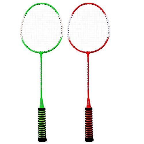 Zhicaikeji Raqueta de Badminton 1 par de Bolsa de Raqueta de bádminton High Elastic Sponge Grip Badminton Raqueta Bolsa de Interior y Deportes al Aire Libre para Juegos de Bádminton