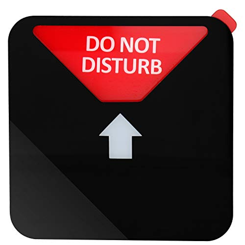 Kichwit Privacy Sign, Do Not Disturb Sign, Out of Office Sign, Please Knock Sign, In a Meeting Sign, Office Sign, Conference Sign for Offices, Squared Shaped, 4.9 Inch, Black Photo #6